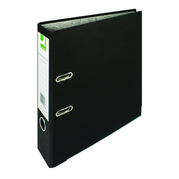Q-CONNECT LEVER ARCH FILE PAPERBACKED A4 BLACK SINGLE