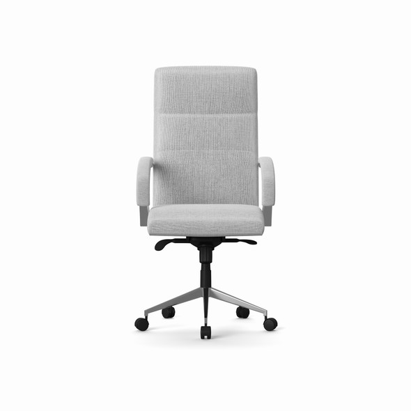 BEDFORD DESIGNER GREY FABRIC CHAIR