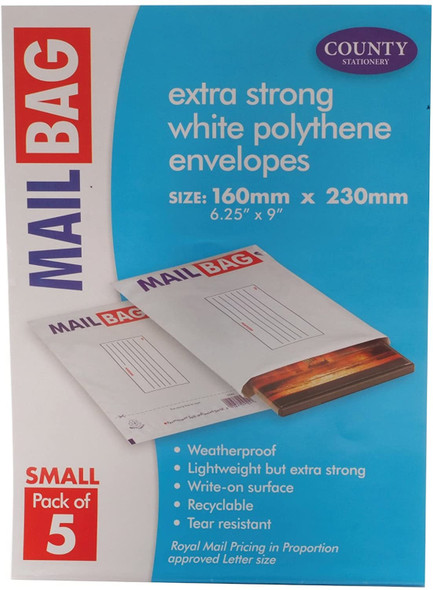 County Stationery Mail Bag Small (Pack of 5)