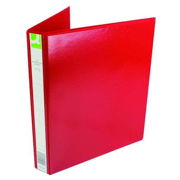 Q-CONNECT PRESENTATION 25MM 4D-RING BINDER A4 RED