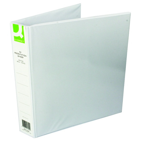 Q-CONNECT PRESENTATION 40MM 4D RING BINDER A4 WHITE