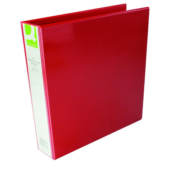 Q-CONNECT PRESENTATION 40MM 4D RING BINDER A4 RED