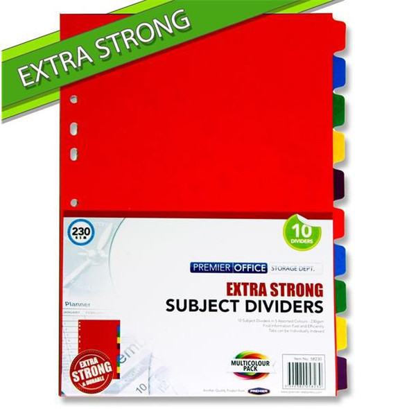 PREMIER EXTRA STRONG DIVIDERS (10 PART)