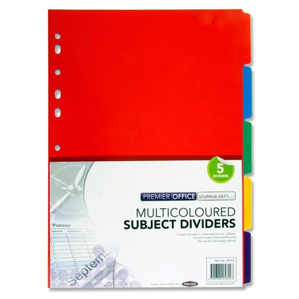 PREMIER EXTRA STRONG DIVIDERS (5 PART)