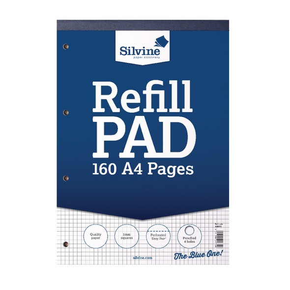 Refill Pad A4 Silvine Dark Blue Single