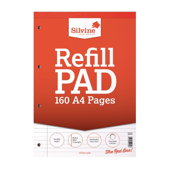 Refill Pad A4 Silvine Red Single