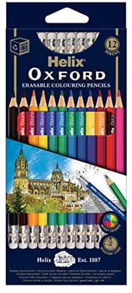 OXFORD ERASABLE COLOURING PENCIL X12