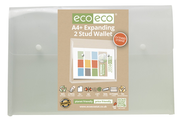 ECO-ECO A4+ RECYCLED EXPANDING 2 STUD WALLET