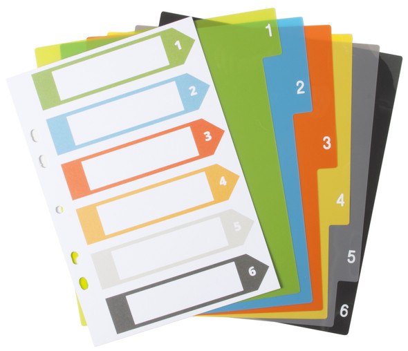 ECO-ECO A5 6PART WIDE DIVIDERS