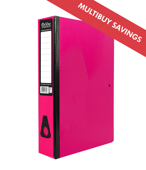 PUKKA BOX FILE - PINK
