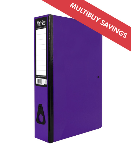 PUKKA BOX FILE - PURPLE