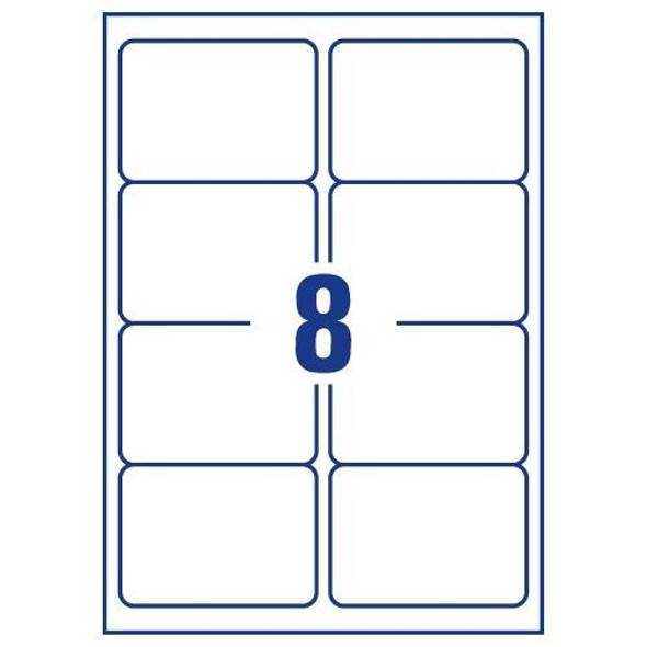 QCONNECT COPIER LABELS - 8 ON A SHEET - (PACK 100)