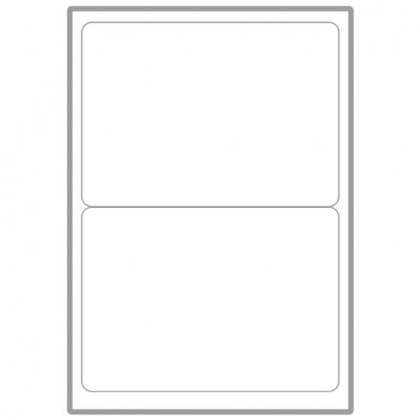 QCONNECT COPIER LABELS - 2 ON A SHEET - (PACK 100)