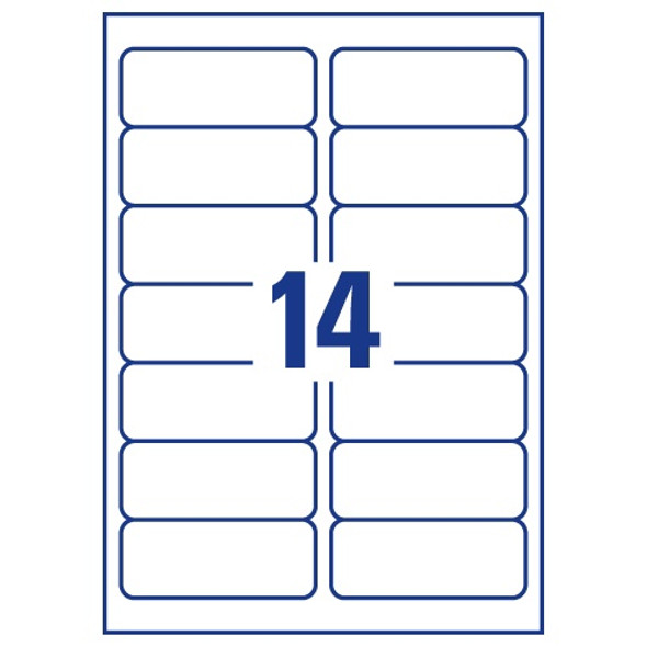 QCONNECT COPIER LABELS - 14 ON A SHEET - (PACK 100)