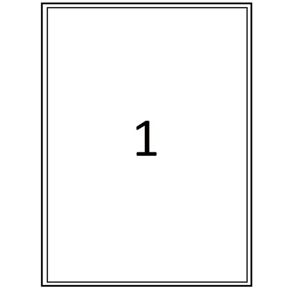 QCONNECT COPIER LABELS - 1 ON A SHEET - (PACK 100)