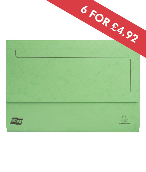DOCUMENT WALLET FOOLSCAP LIME