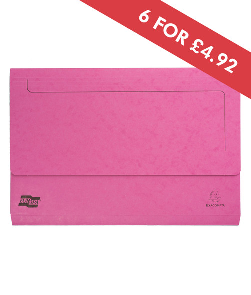 DOCUMENT WALLET FOOLSCAP PINK