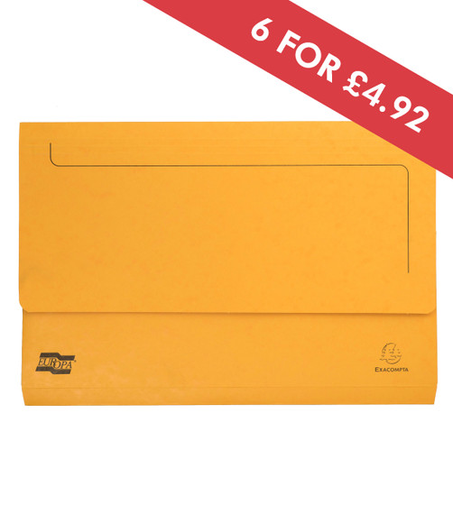 DOCUMENT WALLET FOOLSCAP YELLOW