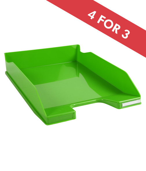 EXACOMPTA LETTER TRAY GLOSSY APPLE GREEN