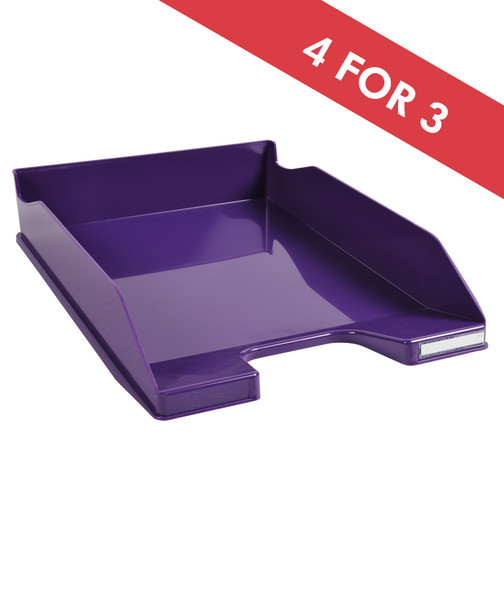 EXACOMPTA LETTER TRAY GLOSSY PURPLE