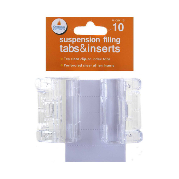 Cathedral Suspension File Tabs (Pack of 10)