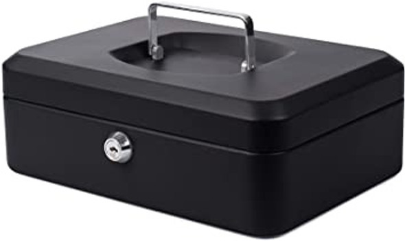 Cathedral Cash Box, 8 Inch - Black