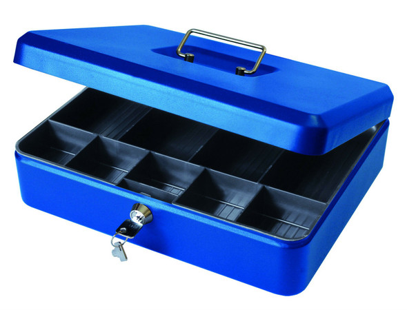 Cathedral Cash Box, 12 Inch - Blue