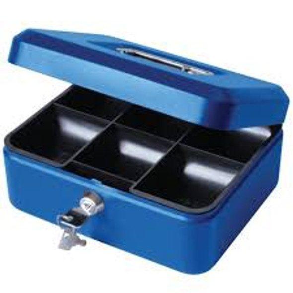 Cathedral Cash Box, 8 Inch - Blue