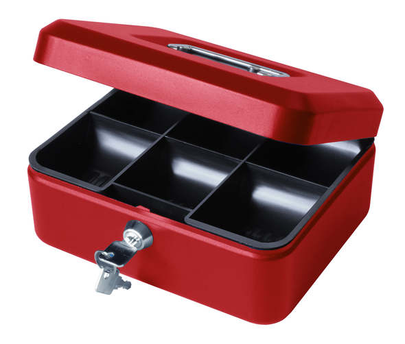 Cathedral Cash Box, 8 Inch - Red