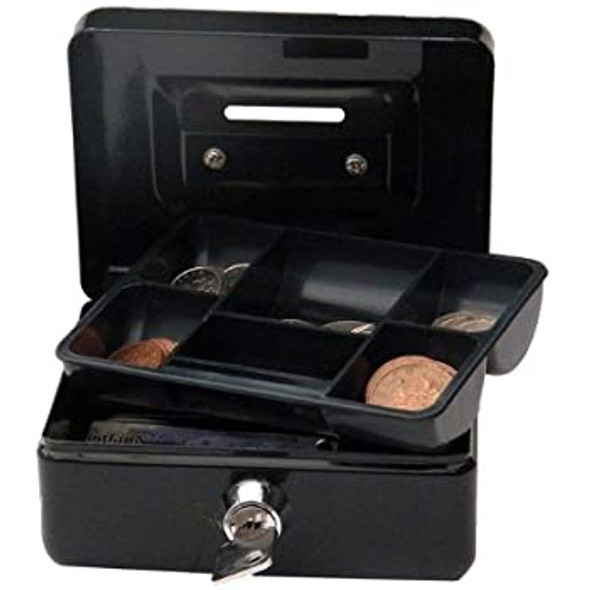 CATHEDRAL CASH BOX/ COIN SLOT, 4 INCH - BLACK