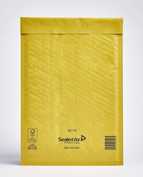 Sealed Air Mail Lite Envelope F/3 Gold - Single