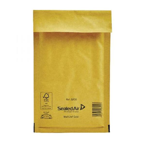 Sealed Air Mail Lite Envelope B/00 Gold - Single
