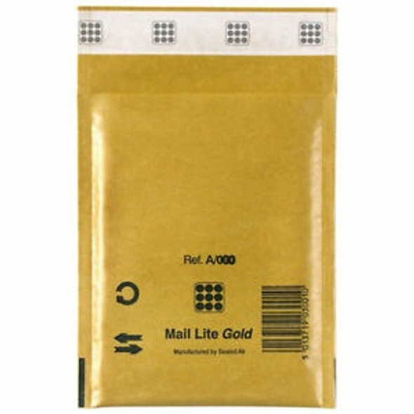 Sealed Air Mail Lite Envelope A/000 Gold - Single