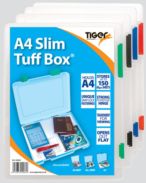 Tiger Tuff Box - Slim - Clear