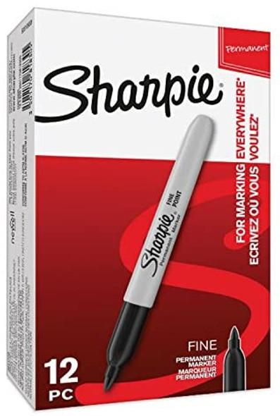 SHARPIE BLACK FINE (PACK OF 12)