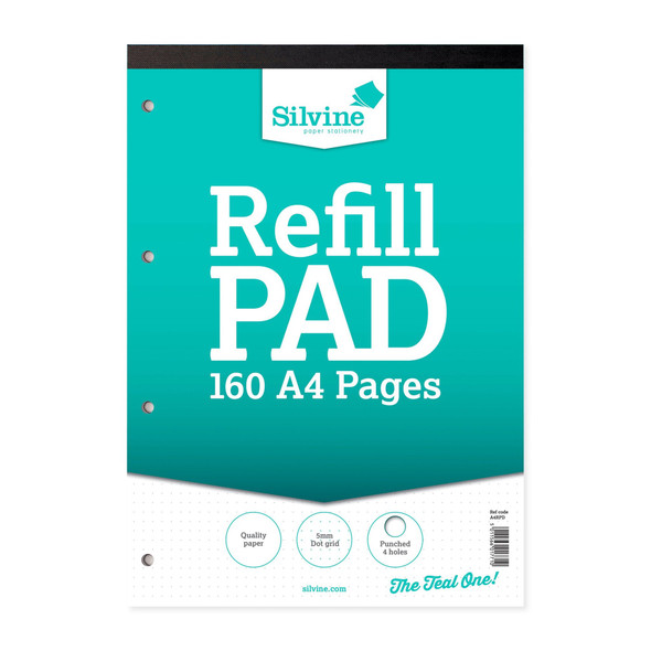 Refill Pad A4 Silvine Dot Grid Single