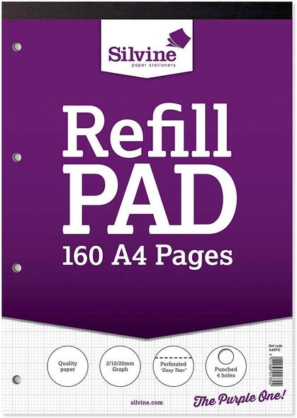 Refill Pad A4 Silvine Graph Single