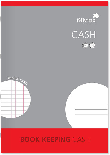 Silvine A4 Book Keeping Range - Cash