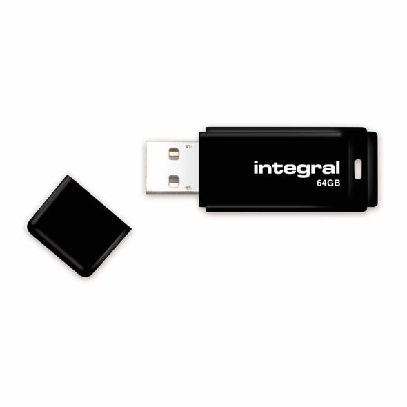 Integral 64GB USB Flash Drive - Black