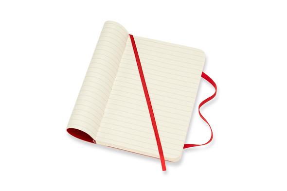 MOLESKINE LARGE RULED SCARLET RED SOFT COVER