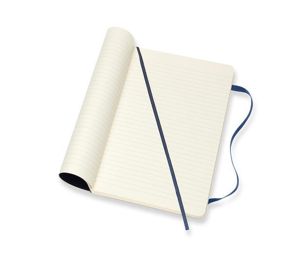 MOLESKINE LARGE RULED SAPPHIRE BLUE SOFT COVER