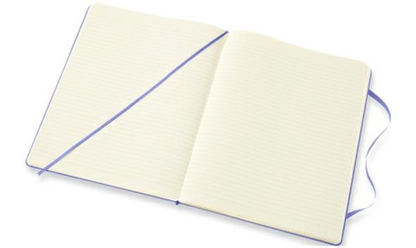 MOLESKINE LARGE RULED HYDRANGEA BLUE HARD COVER