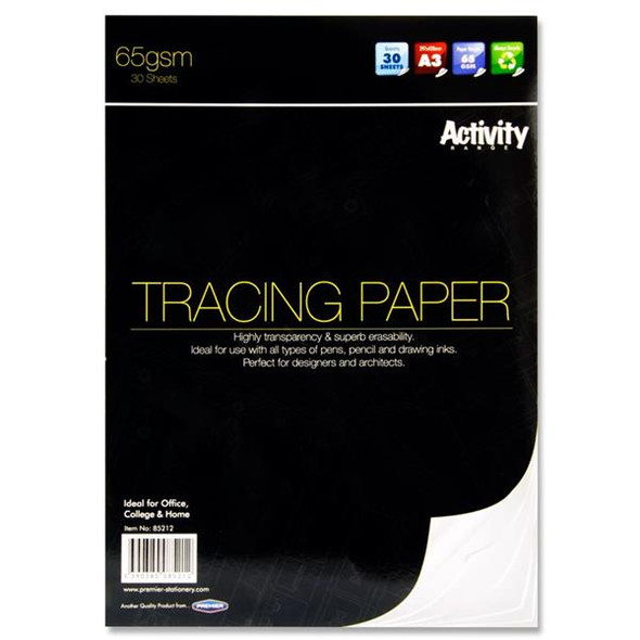 PREMIER A3 65GSM TRACING PAD (30 SHEETS)