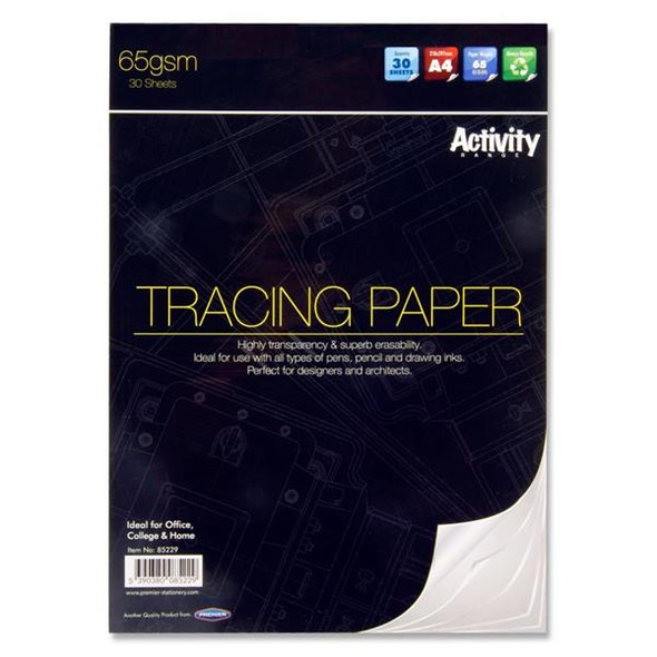 PREMIER A4 65GSM TRACING PAD (30 SHEETS)