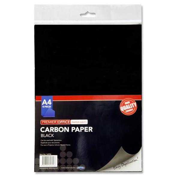 PREMIER BLACK CARBON PAPER A4 (PACK OF 10)