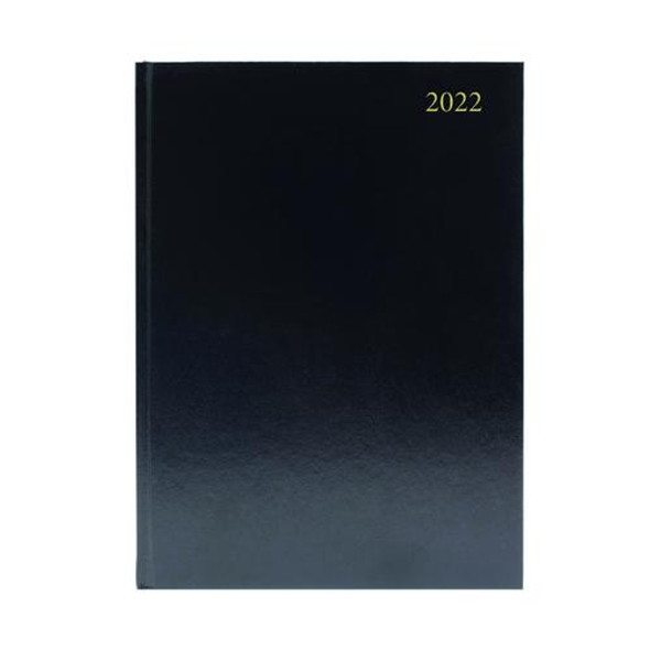 2022 A4 2 PAGES PER DAY - BLACK