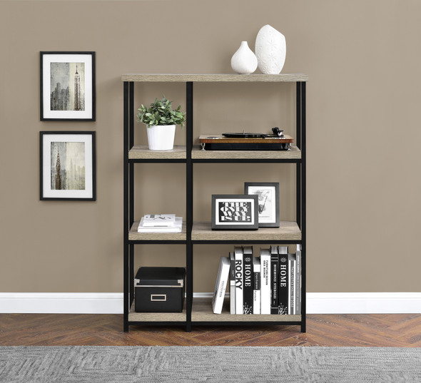 Elmwood Bookcase Distressed Grey Oak