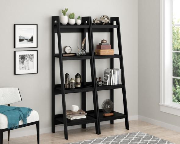 Lawrence 4 Shelf Ladder Bookcase - SET OF 2 - BLACK