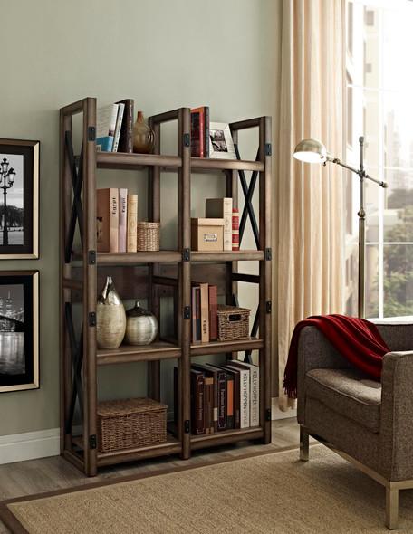 Wildwood Bookcase/Room Divider - UK - Rustic Grey
