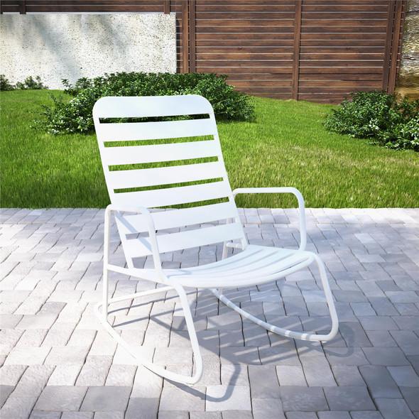 Novogratz Roberta Rocker Chair, White